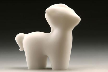 【誕生系列】石塑雕塑之成功躍進(馬)