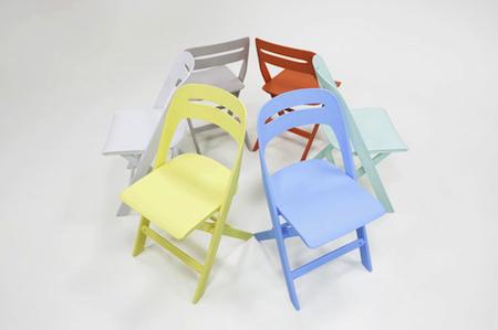 NOVITE 諾維特全塑折合椅【兩張合購方案】/黃+橘