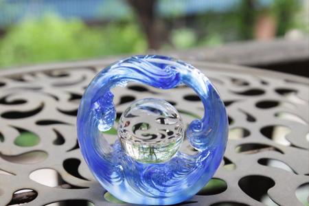 【琉璃工房】轉動好世界—人間轉如意/藍透