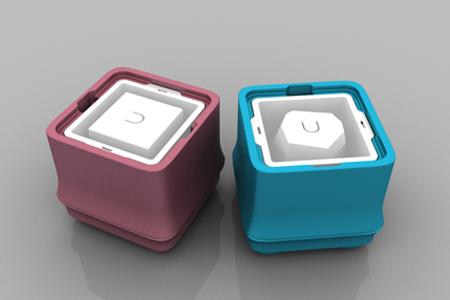POLAR ICE 極地冰盒方竹系列-雙色超值組 (藍+粉)