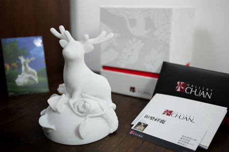 台灣文創石雕 - 和樂祥鹿