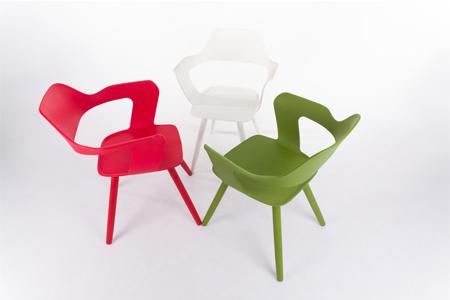 MUSE沐司椅_塑膠腳系列 (共三色) 【兩張合購方案】/裸紅+裸紅