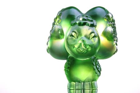 【琉璃工房】十二生肖花燦燦娃娃-親(羊)/琥珀綠透