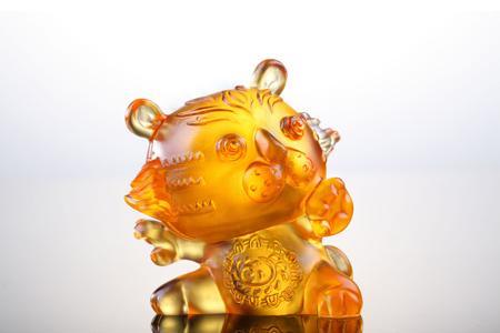 【琉璃工房】十二生肖花燦燦娃娃-阿猛(虎)/琥珀